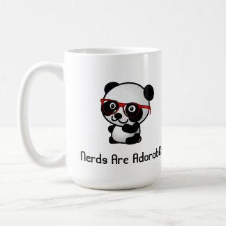 Caneca De Café Os nerd são panda bonito adorável com vidros do
