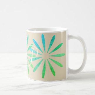 Caneca De Café Os ornamento brilhantes do verde da hortelã