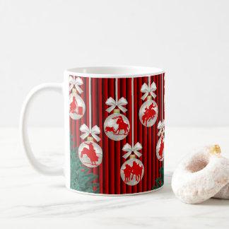 Caneca De Café Os ornamento do rodeio no feriado vermelho