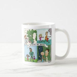Caneca De Café Os pais são heróis
