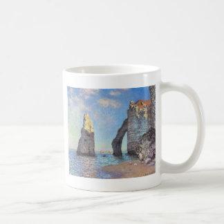Caneca De Café Os penhascos em Etretat - Claude Monet