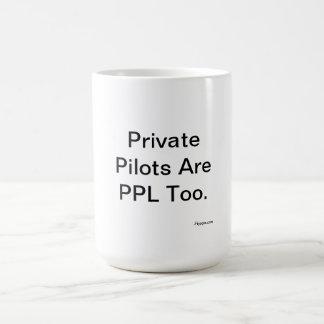 Caneca De Café Os pilotos privados são PPL demasiado