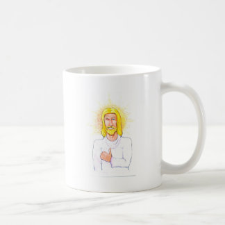 Caneca De Café Os polegares levantam Jesus