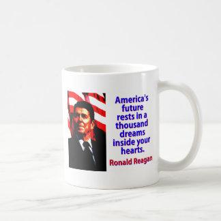 Caneca De Café Os restos futuros de América - Ronald Reagan
