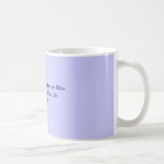 Caneca De Café Os rosas são vermelhos, violetas são BlueIf que os