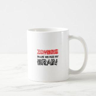 Caneca De Café os zombis querem-me para meu cérebro