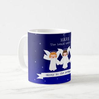 Caneca De Café Ouça! Os anjos de The Herald cantam a glória ao