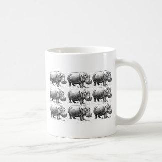 Caneca De Café ouro do hippopotamus