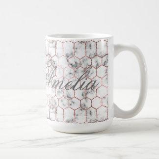 Caneca De Café Ouro, geometria, mármore, teste padrão, moderno,
