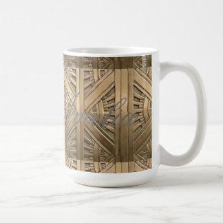 Caneca De Café ouro, nouveau da arte, art deco, vintage, chique,
