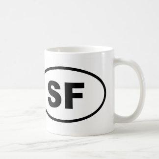 Caneca De Café Oval de San Francisco SF