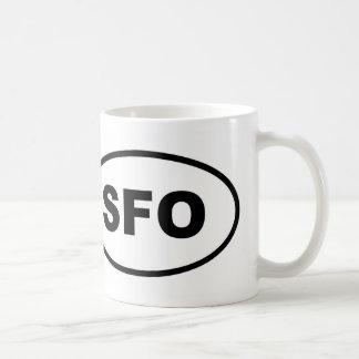 Caneca De Café Oval do SFO San Francisco