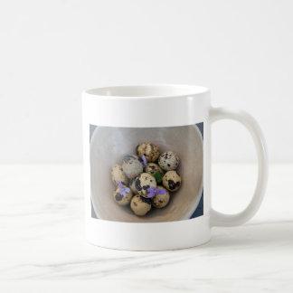 Caneca De Café Ovos de codorniz & flores 7533