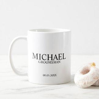 Caneca De Café Padrinho de casamento personalizado moderno