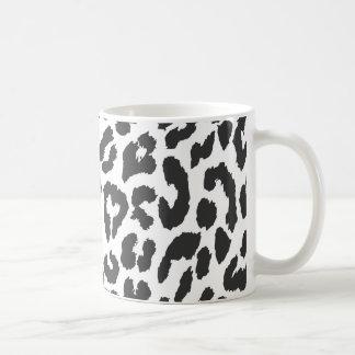 Caneca De Café Padrões pretos & brancos da pele animal do