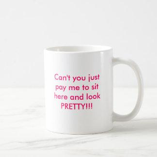Caneca De Café Pague-me para olhar bonito