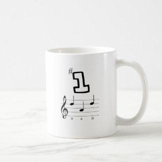 Caneca De Café Pai #1 na notação musical