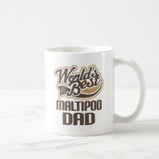 Caneca De Café Pai de Maltipoo (mundos melhores)