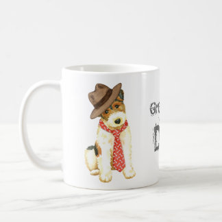 Caneca De Café Pai do Fox Terrier do fio