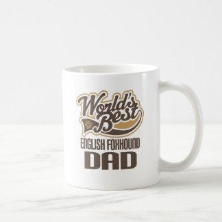 Caneca De Café Pai do Foxhound inglês (mundos melhores)