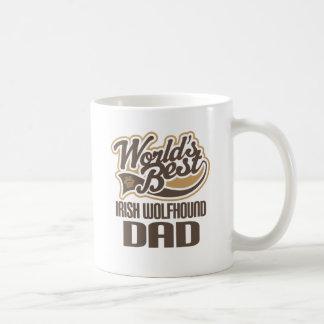 Caneca De Café Pai do Wolfhound irlandês (mundos melhores)