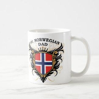 Caneca De Café Pai norueguês do número um