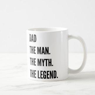 Caneca De Café Pai o homem o mito a legenda