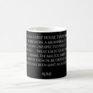 """Caneca De Café Palavras da """"residencial"""" de Rumi da sabedoria"""