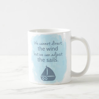Caneca De Café Palavras de citações náuticas do barco de vela da