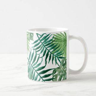 Caneca De Café palm leafs mug aquarell tumblr