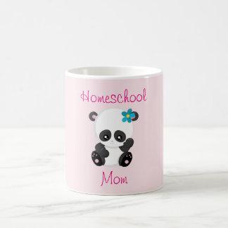 Caneca De Café Panda bonito para uma mamã de Homeschool