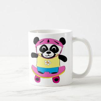 Caneca De Café Panda da menina no skate