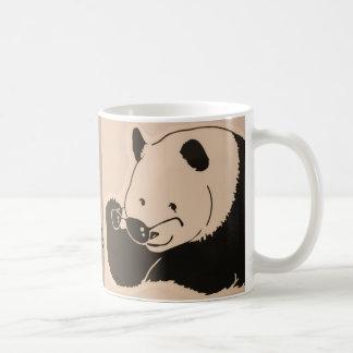 Caneca De Café Panda legal com máscaras