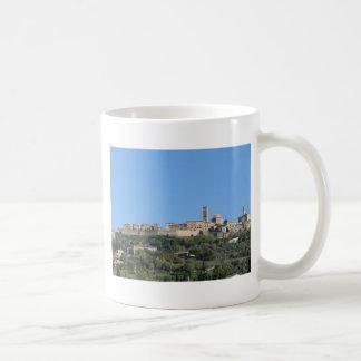 Caneca De Café Panorama da vila de Volterra, província de Pisa