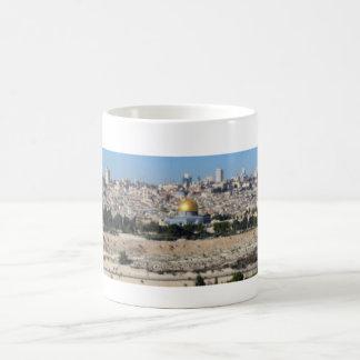 Caneca De Café Panorama de Jerusalem do Monte das Oliveiras