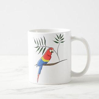 Caneca De Café Papagaio tropical