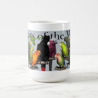 Caneca De Café Papagaios do mundo