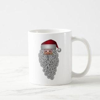 Caneca De Café Papai noel no Natal encaracolado da barba