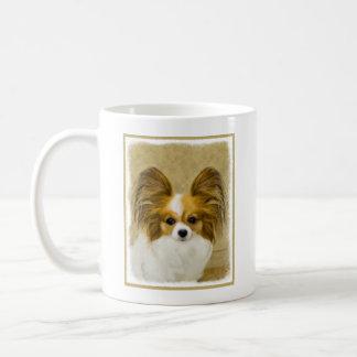 Caneca De Café Papillon (tri cor do cão)