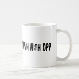 Caneca De Café Para baixo com Opp