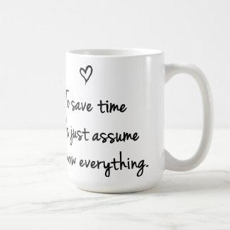 Caneca De Café Para ganhar o tempo deixou-nos apenas supr a