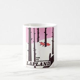 Caneca De Café Para um poster vintage de Lapland da aventura