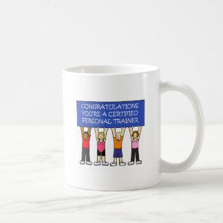 Caneca De Café Parabéns pessoais certificados do instrutor