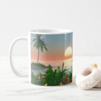 Caneca De Café Paraíso tropical da ilha