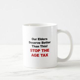 Caneca De Café Pare o imposto da idade