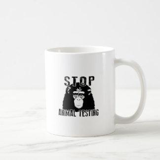 Caneca De Café Pare o teste animal - chimpanzé