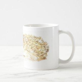 Caneca de café parva do ouriço