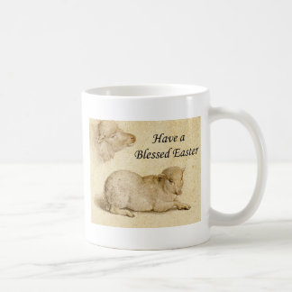 Caneca De Café Páscoa que abençoa a arte de descanso do cordeiro