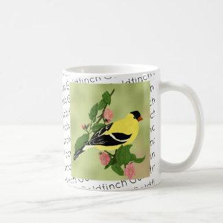Caneca De Café Pássaro amarelo pequeno do Goldfinch