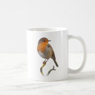 Caneca De Café Pássaro do pisco de peito vermelho